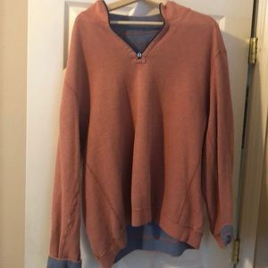 Tommy Bahama Reversible Half ZIP Sweater.  XXL